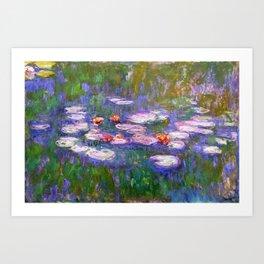 Claude Monet, Waterlilies, oil on canvas. Art Print