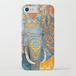 The Happy Blue Elephant iPhone Case