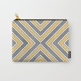 Stripes in Grey and Yellow-bold Carry-All Pouch