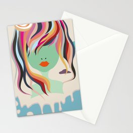 Miss in clouds 2 Stationery Cards