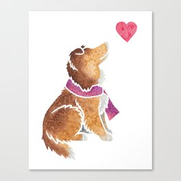 Watercolour Shetland Sheepdog Canvas Print