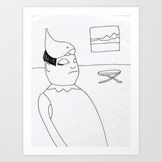 bird hat Art Print