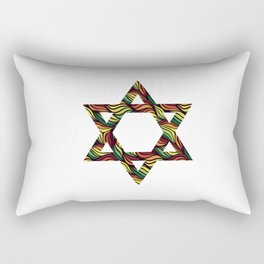 Star of David (Zion) Rasta Rectangular Pillow