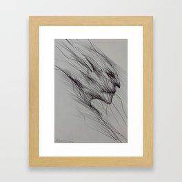 A dark fantasy/horror art print by Gareth Walsh Framed Art Print