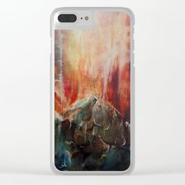 Red Mountain Clear iPhone Case