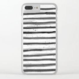 Zebra Swirl Stripe Clear iPhone Case