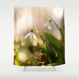 You And I Two Snowdrop Flowers #decor #society6 Shower Curtain