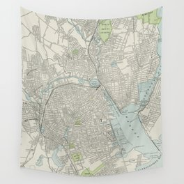 Vintage Map of Providence Rhode Island (1901) Wall Tapestry
