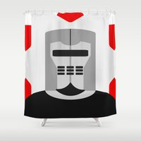 knight Shower Curtains featuring Knight by Vipes
