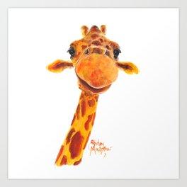 Nosey Giraffe ' MaDGe ' by Shirley MacArthur Art Print