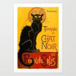 Vintage Le Chat Noir Paris Black Cat Cabaret Art Print