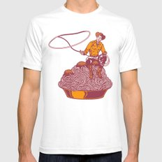 Spaghetti Western Mens Fitted Tee SMALL White
