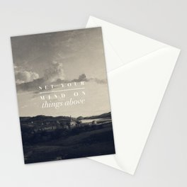 Set Your Mind On Things Above - Colossians 3:2 Stationery Cards