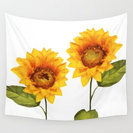 Sunflowers Illustration Wall Tapestry