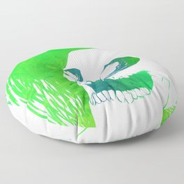 Scratchy Skull (Green) Floor Pillow