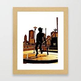 Roberto's Shadow Lives In Roberto's City Framed Art Print