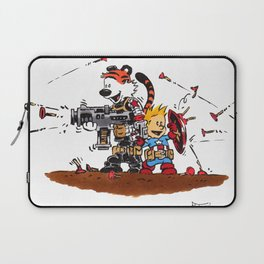 Calvin and Hobbes Inspired Hero Parody Laptop Sleeve