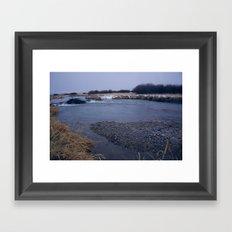 river rocks Framed Art Print