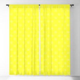 Cream Yellow on Electric Yellow Snowflakes Blackout Curtain
