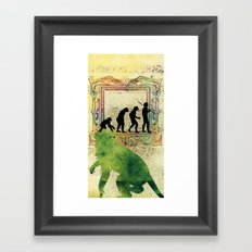 Chinese Lunar New Year and 12 animals  ❤  The MONKEY 猴 Framed Art Print