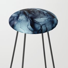 Blush and Darkness Abstract Paintings Counter Stool
