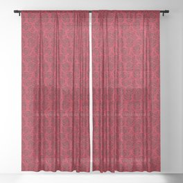 Red  Roses Sheer Curtain