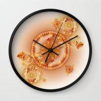 clockwork Wall Clocks featuring Clockwork by Eli Vokounova