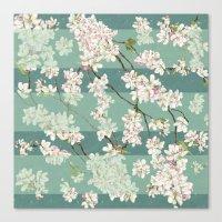 sakura Canvas Prints featuring Sakura by Maria Durgarian