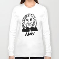 amy poehler Long Sleeve T-shirts featuring Amy Poehler by Flash Goat Industries