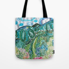 Tote Bag - Abstract pattern red by VIDA VIDA