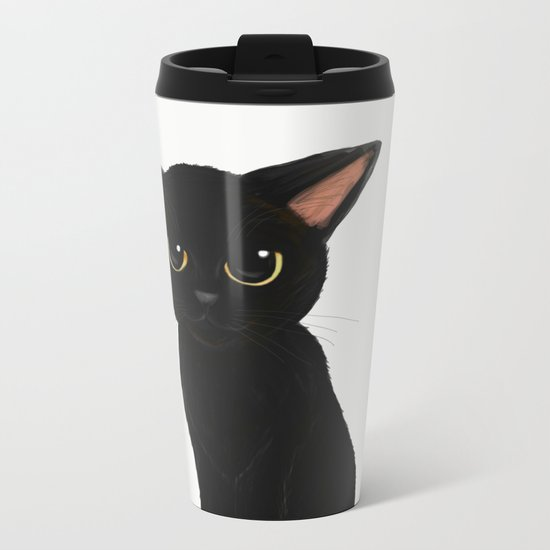 Little kitty Metal Travel Mug