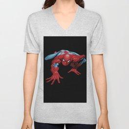 crawling spider man Unisex V-Neck