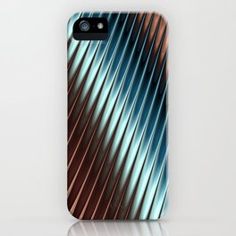 Stripey Pins Teal & Taupe - Fractal Art iPhone Case