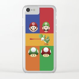 Mario Party Clear iPhone Case