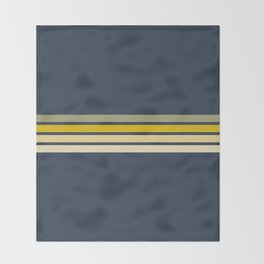 Racing Retro Stripes Throw Blanket