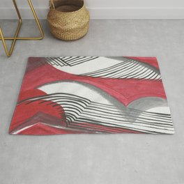 abstract red and black background Rug
