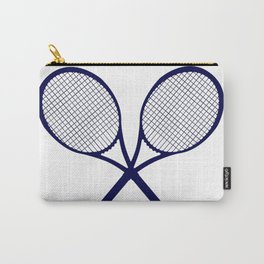 Crossed Rackets Silhouette Carry-All Pouch