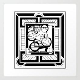 Triangle Core Art Print
