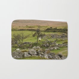 Sheep Amidst English Ruins Bath Mat