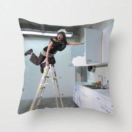 Clown On The Ladder Throw Pillow
