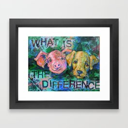 Piglet or Puppy - Vegan Framed Art Print