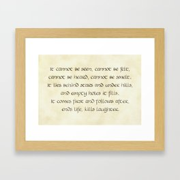 Riddles #6 Framed Art Print