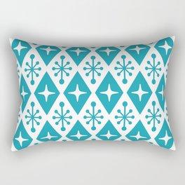 Mid Century Modern Atomic Triangle Pattern 119 Rectangular Pillow