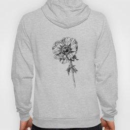 Anemone flower print Hoody