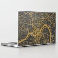 cincinnati Laptop & iPad Skins featuring Cincinnati map by Map Map Maps