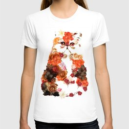 Portrait cute little kitten t-shirts T-shirt