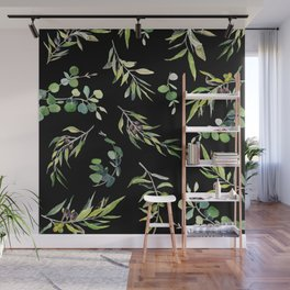 Eucalyptus and Olive Pattern  Wall Mural
