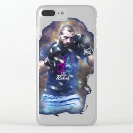 The Rebel Gokhan Saki-Abstract Multi Colors Background MMA T-Shirt Clear iPhone Case