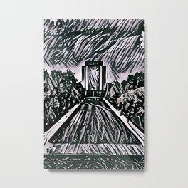 Hesburgh Library Metal Print
