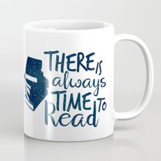 There is Always Time to Read   Blue + Gold Mug
